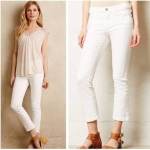 Anthropologie Pilcro Stet White Cropped Jeans